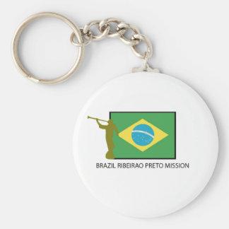 Misión LDS del Brasil Ribeirao Preto Llavero Redondo Tipo Pin