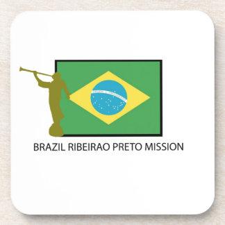Misión LDS del Brasil Ribeirao Preto Posavasos De Bebidas