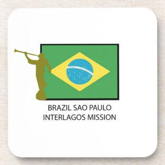 MISIÓN LDS DEL BRASIL SAO PAULO INTERLAGOS POSAVASOS DE BEBIDAS