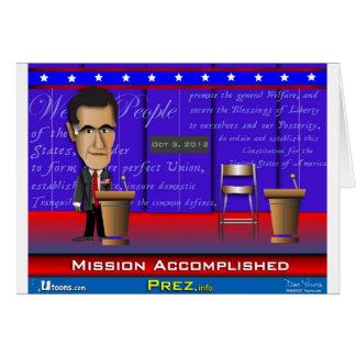 Misión lograda tarjeta de felicitación
