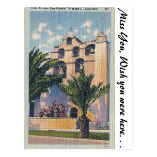 Misión San Gabriel, California Postales