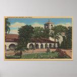 Misión San Juan Bautista, California Póster
