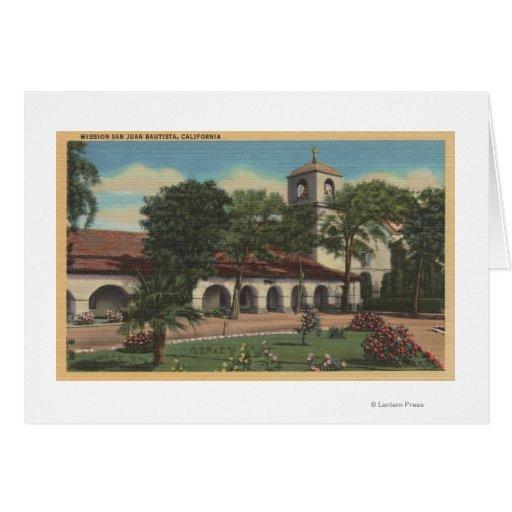 Misión San Juan Bautista, California Tarjeta De Felicitación