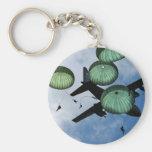 Misión total del salto, paracaídas, ejército ameri llaveros