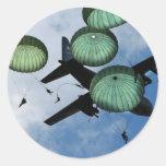 Misión total del salto, paracaídas, ejército ameri pegatinas