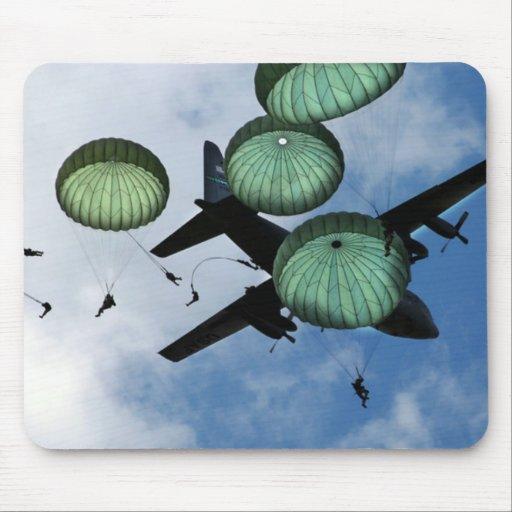 Misión total del salto, paracaídas, ejército ameri alfombrillas de ratones