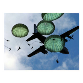 Misión total del salto, paracaídas, ejército ameri tarjetas postales