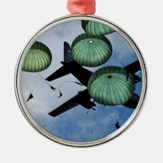Misión total del salto, paracaídas, ejército ornato