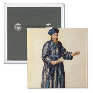 Misionario veneciano en China Pin Cuadrado
