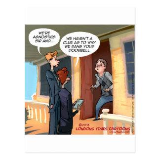 Misionarios agnósticos divertidos postal