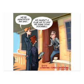 Misionarios agnósticos divertidos postales