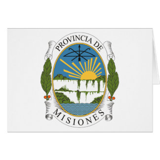 Misiones Coat of Arms Greeting Card