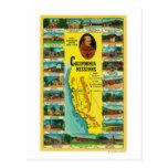 Misiones españolas de la demostración de Californi Tarjetas Postales