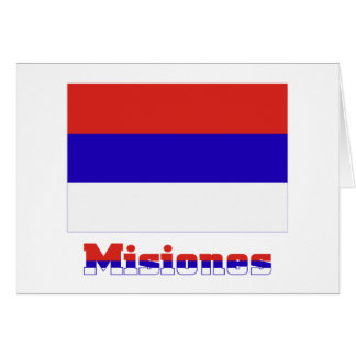 Misiones flag with name cards