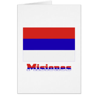 Misiones flag with name card