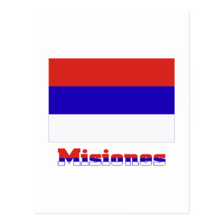 Misiones flag with name post cards