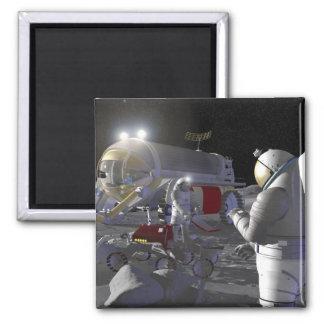 Misiones futuras 11 de la exploración espacial imán cuadrado