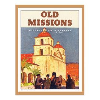 Misiones Santa Barbara del vintage Postales