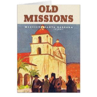 Misiones Santa Barbara del vintage Tarjeta De Felicitación