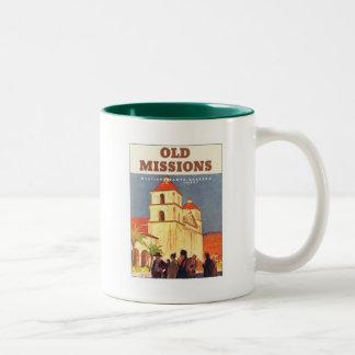 Misiones Santa Barbara del vintage Tazas De Café