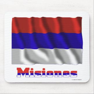 Misiones waving flag with name mouse pad