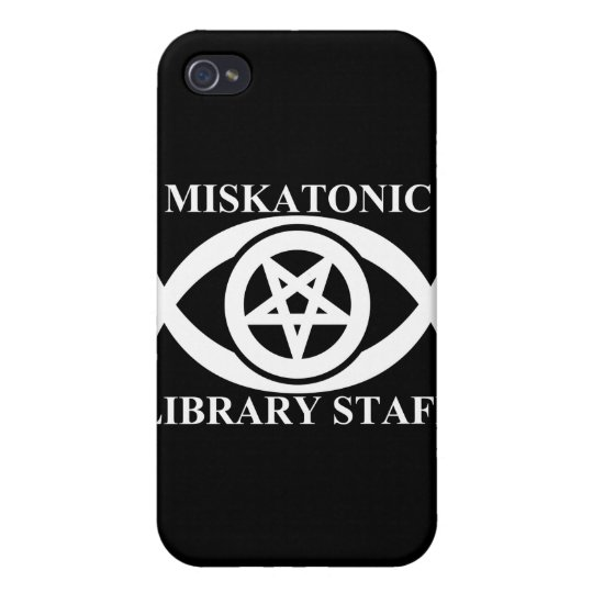 MISKATONIC LIBRARY STAFF CASE FOR iPhone 4