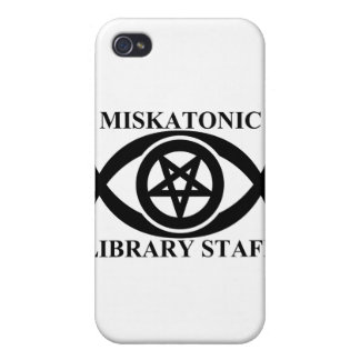 MISKATONIC LIBRARY STAFF COVER FOR iPhone 4