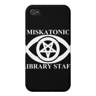 MISKATONIC LIBRARY STAFF iPhone 4 CASE