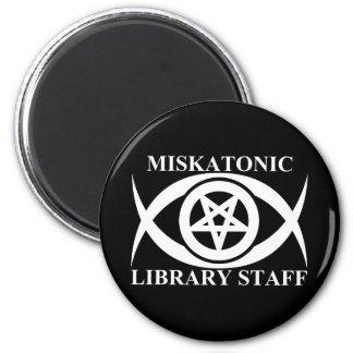 MISKATONIC LIBRARY STAFF MAGNET