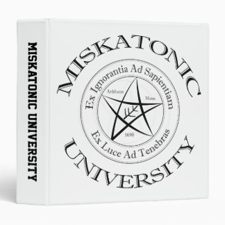"Miskatonic University 1.5"" Binder"