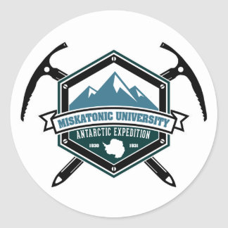 Miskatonic University Antarctic Expedition Classic Round Sticker