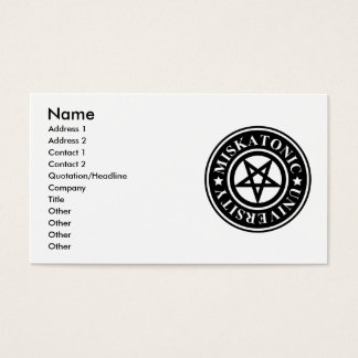 MISKATONIC UNIVERSITY BUSINESS CARD