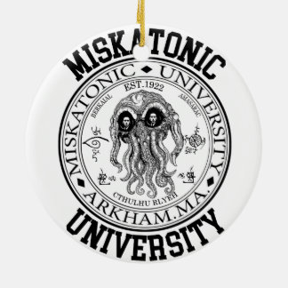 Miskatonic University CTHULHU HP LOVECRAFT Ceramic Ornament
