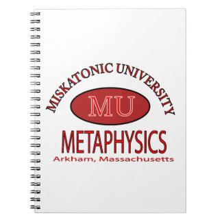 Miskatonic University, Department of Metaphysics Note Books