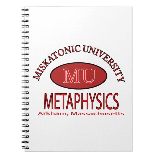 Miskatonic University, Department of Metaphysics Notebook