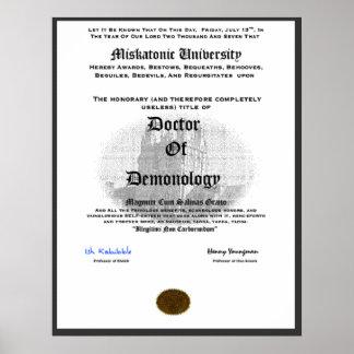 Miskatonic University Doctor of Demonolgy Posters