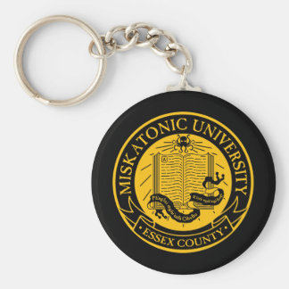 Miskatonic University Basic Round Button Keychain