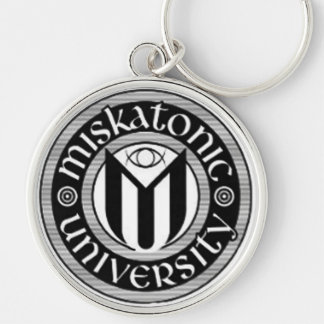 Miskatonic University Silver-Colored Round Keychain