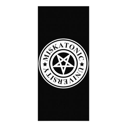 MISKATONIC UNIVERSITY RACK CARD