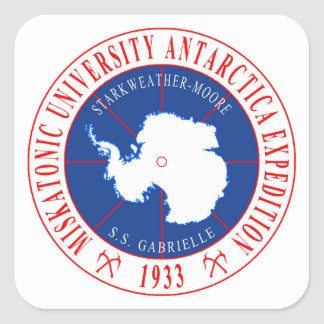 Miskatonic University Second Antarctic Expedition Square Sticker