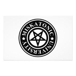 MISKATONIC UNIVERSITY STATIONERY