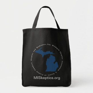 MISkeptics Black Tote Canvas Bag