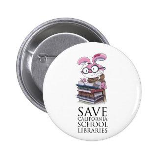 Miskit - Save California School Libraries Button
