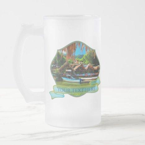 Mismaloya River 0331 Frosted Glass Beer Mug