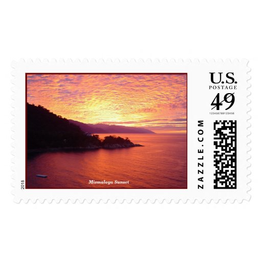 Mismaloya Sunset Postage Stamps