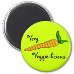 Mismo arte vegetal de la zanahoria del Veggie Imán