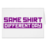 Mismo diverso día de la camisa felicitaciones