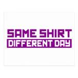 Mismo diverso día de la camisa postal