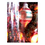 Mismo fotografía del ornamento del navidad del vin tarjeta postal