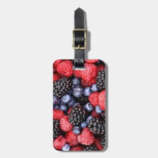 Mismo fresa Blackberry del arándano del amante de  Etiquetas Bolsa